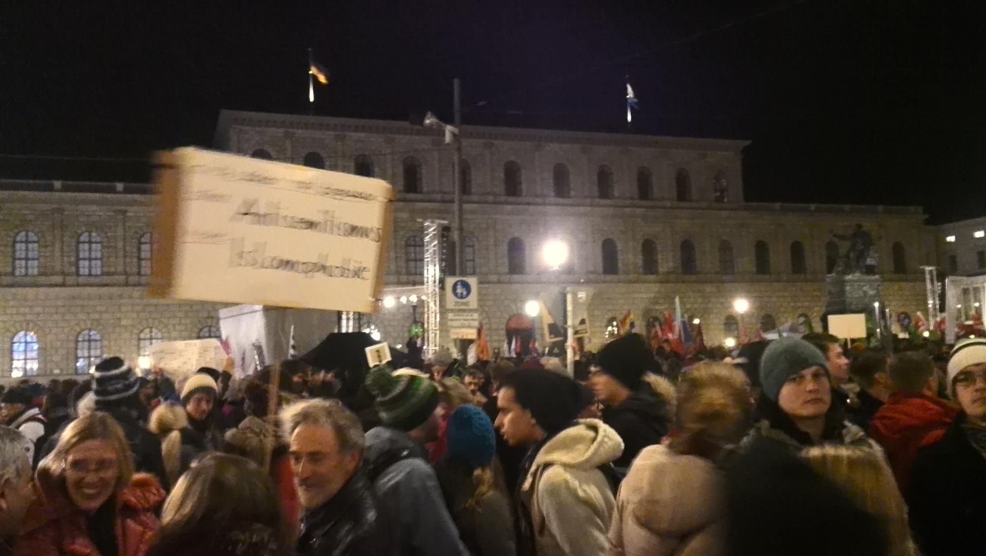 Demo in München am 22.12.2014